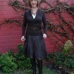 Brown sheer skirt