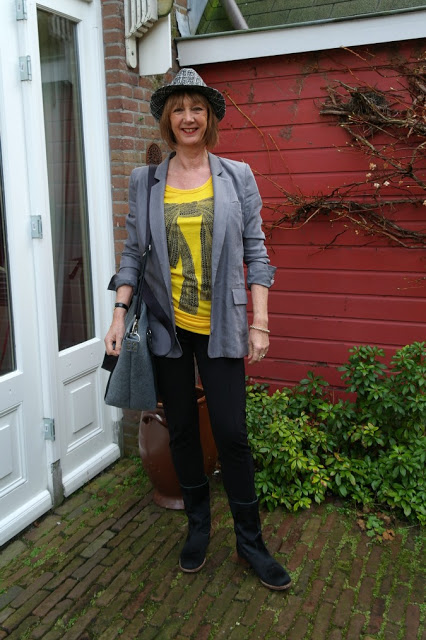 Last article on my grey boyfriend jacket