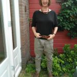 Grey green baggy trousers… with sneakers