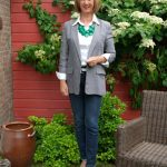 My grey boyfriend jacket styled by The Style Confessions