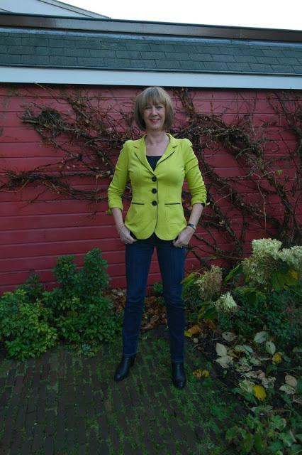 Lemon green jacket and D&G suit.. the sequel