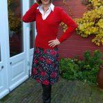 Red flower skirt Max Mara
