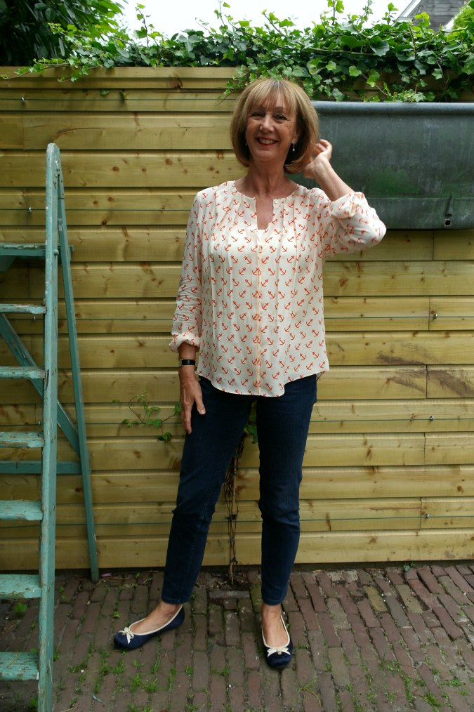 Anchor blouse and jeans 1a