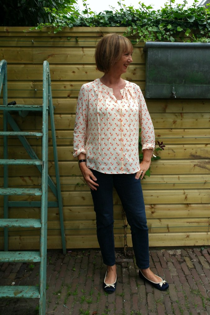 Anchor blouse and jeans 2b
