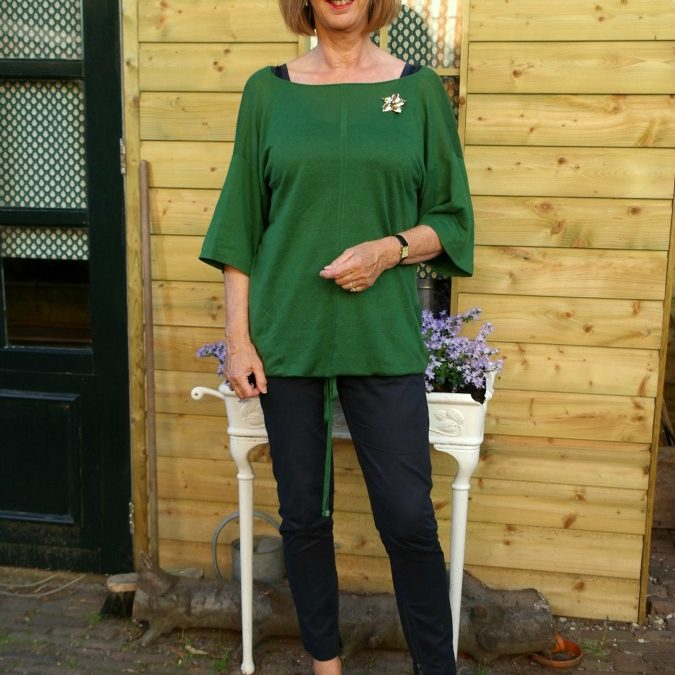 Green knitted Max Mara tunic