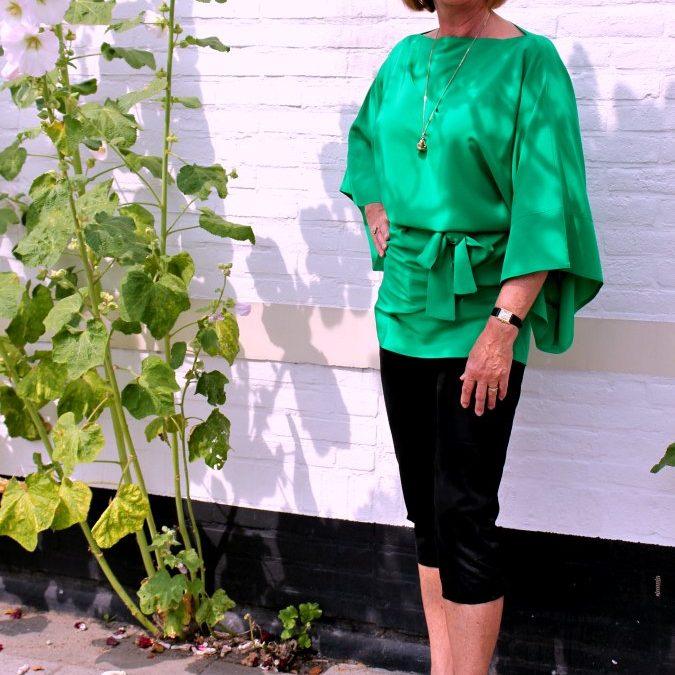 Green Italian kimono top