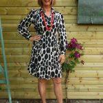 Oval polka dot summer dress