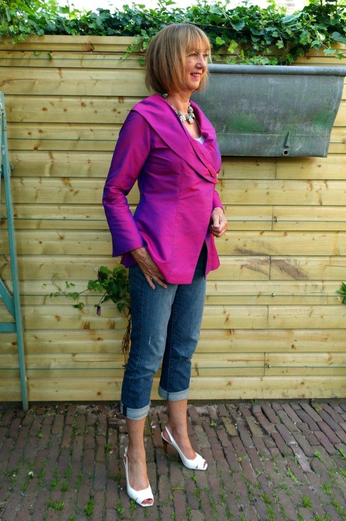 Purple silk jacket 2