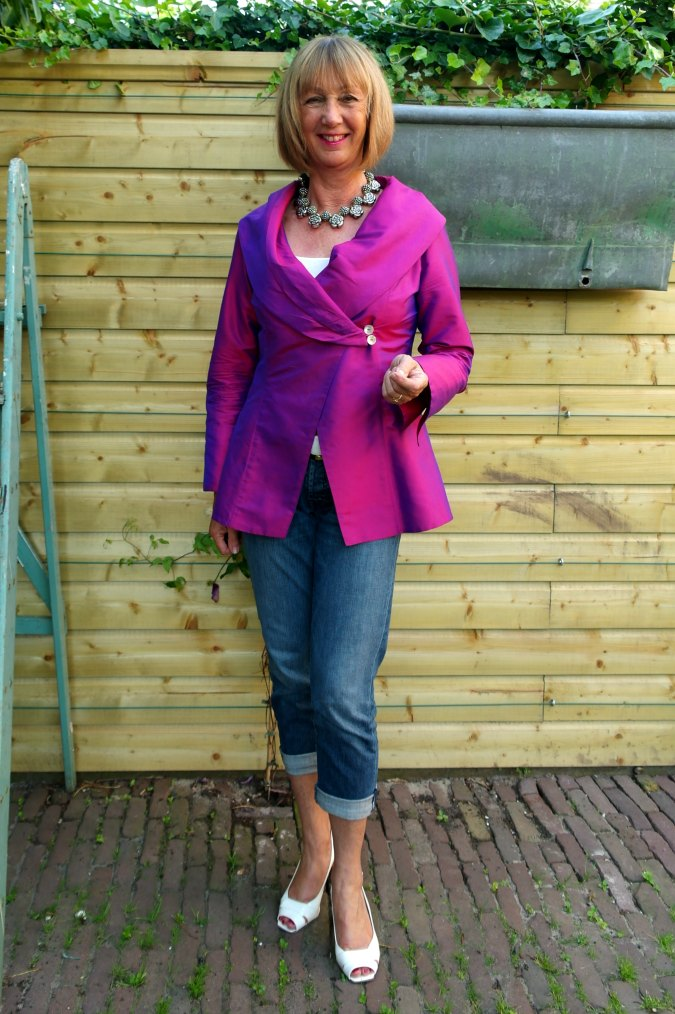 Purple silk jacket 4