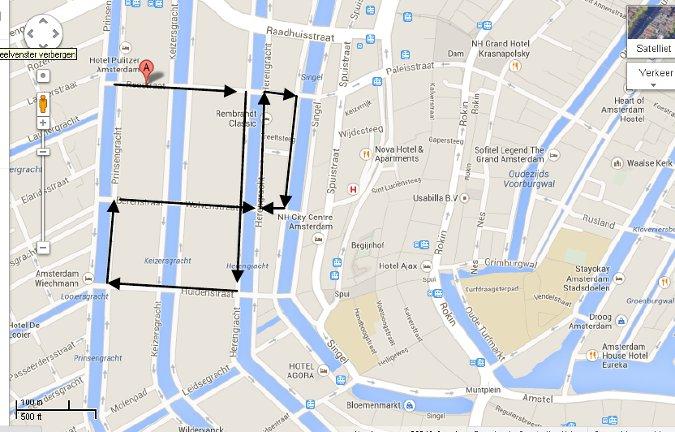 Amsterdam II nine streets map