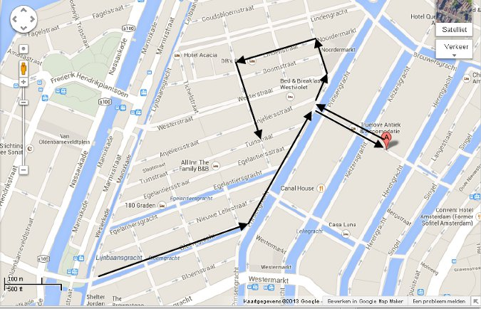 Amsterdam III Jordaan map