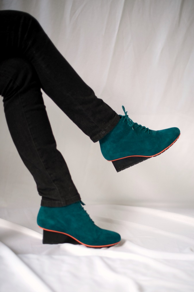 Teal Unisa shoes and Angela Caputi necklace 2