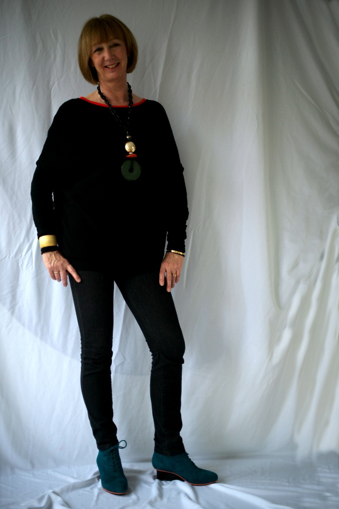 Teal Unisa shoes and Angela Caputi necklace 2a