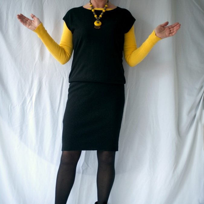 Black Tara Jarmon dress