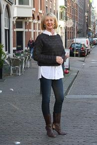 Brown Jan Jansen boots, cropped Sarah Pacini sweater (1 van 1)
