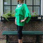 Green kimono blouse
