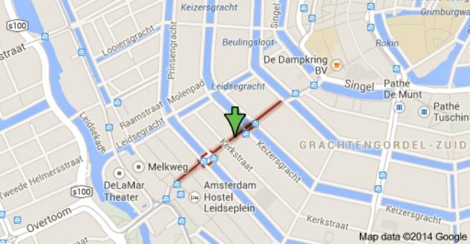 Leidsestraat map
