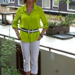Lime silk blouse DVF