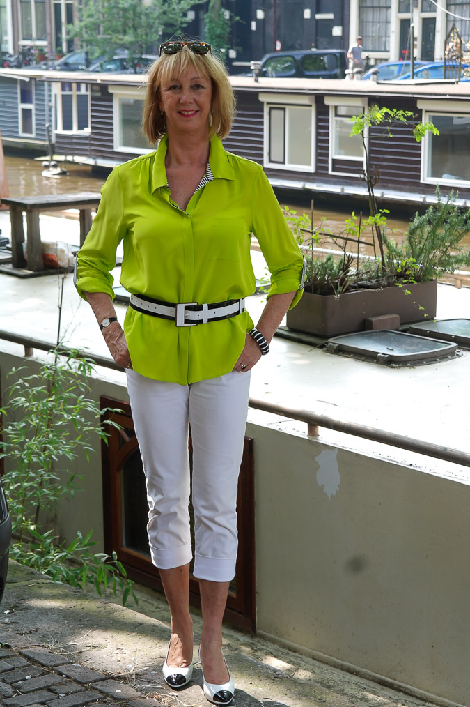 Lime yellow blouse with B&W (122)_LR
