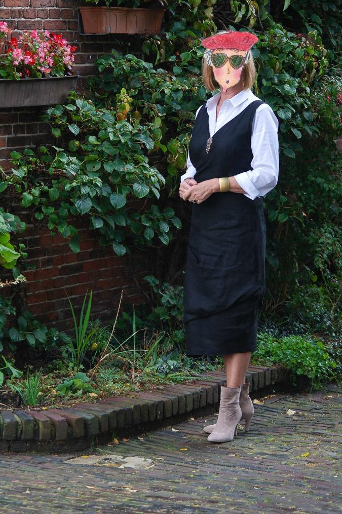 Black summer dress and booties (5 Turnip)