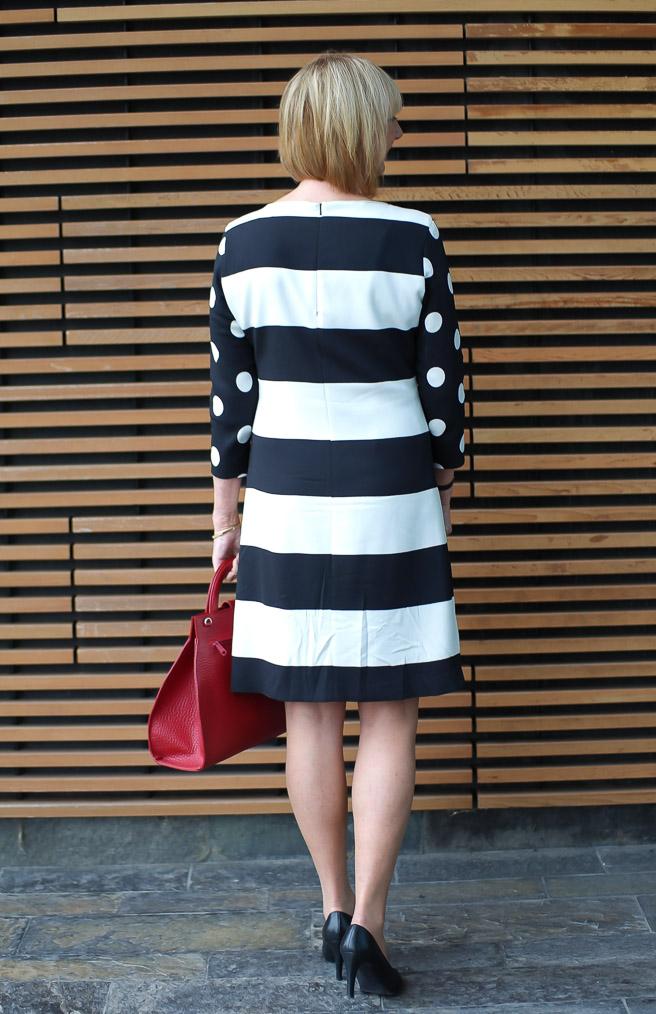 Max Mara dress B&W (3)
