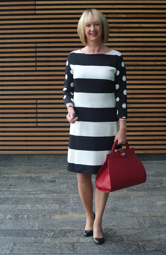 Max Mara dress B&W (4)