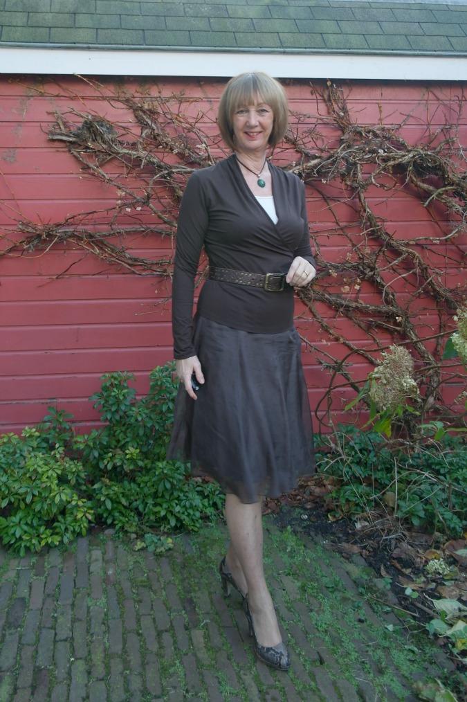 Brown sheer skirt part 2 3