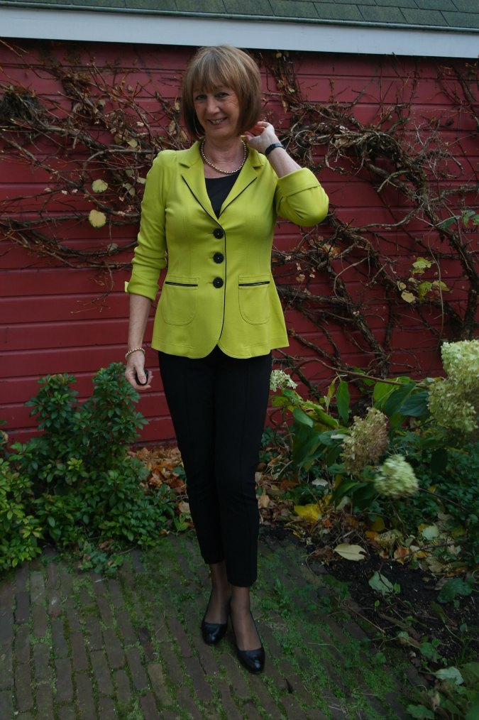 Lemon green jacket 2