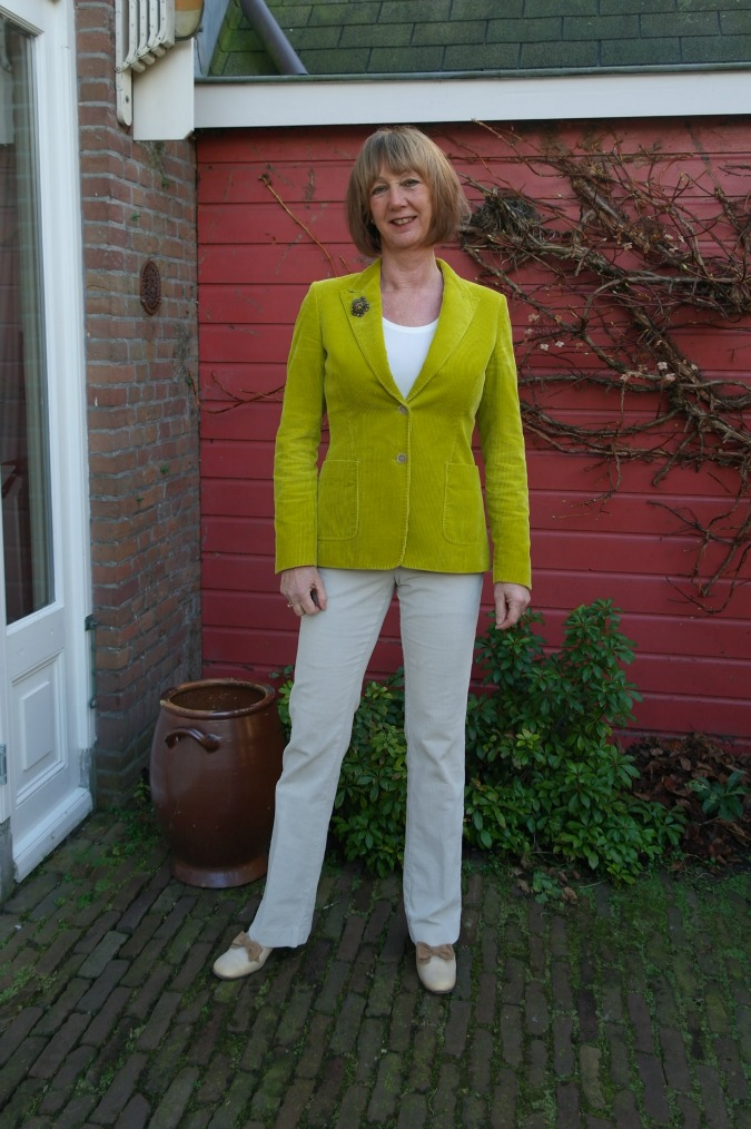 Lime corduroy jacket and corduroy trousers 1