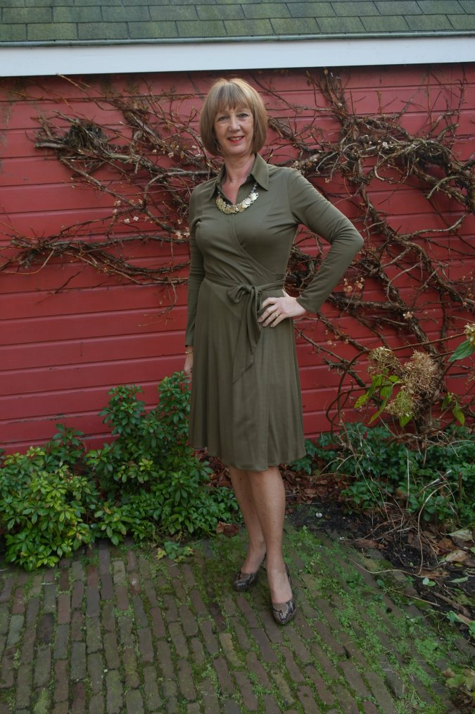 Olive green dress 1