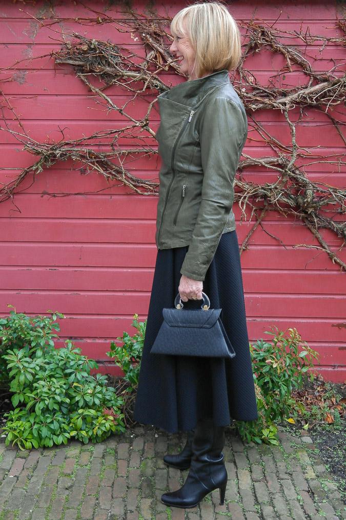 Green leather jacket (12 van 13)