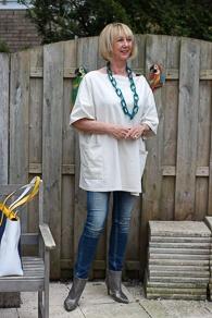 Acne tunic, skinny jeans Denham and silver booties Hoss (1 van 1)