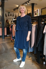Blue coat dress Samsoe & Samsoe (1 van 1)