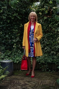 DvF dress and yellow coat (1 van 1)