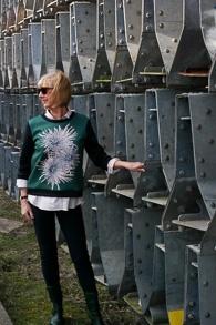 Green sweater with print Max Mara