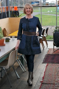 jeans dress Sportmax with golden boots