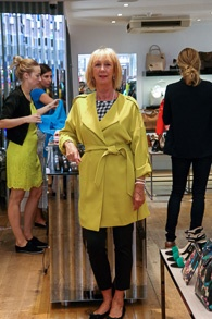Lime duster coat Karen Millen