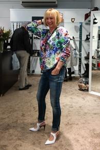 Max Mara sweater, white patent leather slingbacks (1 van 1)