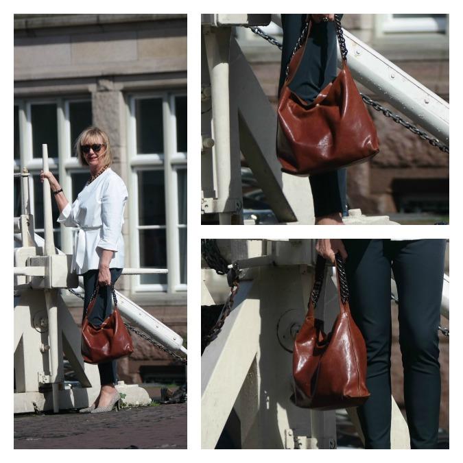 Tan leather bag 2