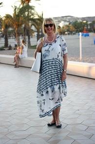 blue white maxi dress (1 van 1)