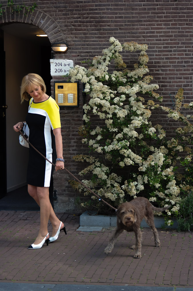 Yellow, black and white dress (2 van 22)