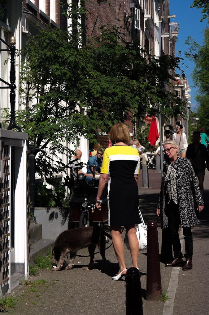 Yellow, black and white dress (8 van 22)