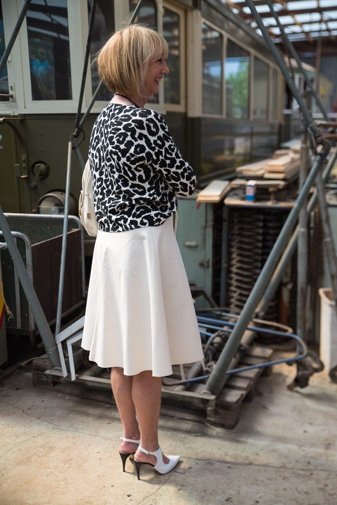 Cream skirt Marella with two tops (3 van 8)