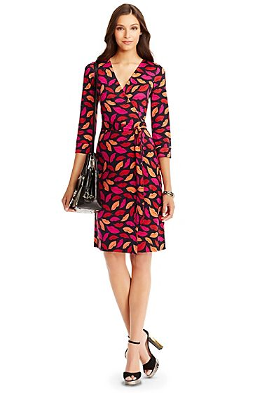 kiss wrap dress DvF