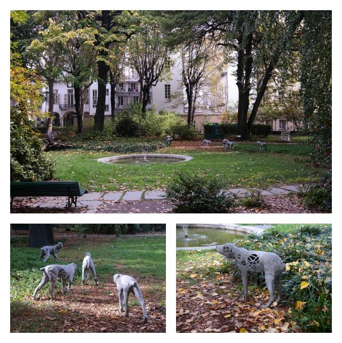 art dogs in park