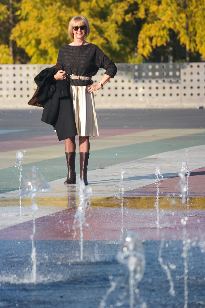 Cream pleated skirt Max Mara (22)_LR