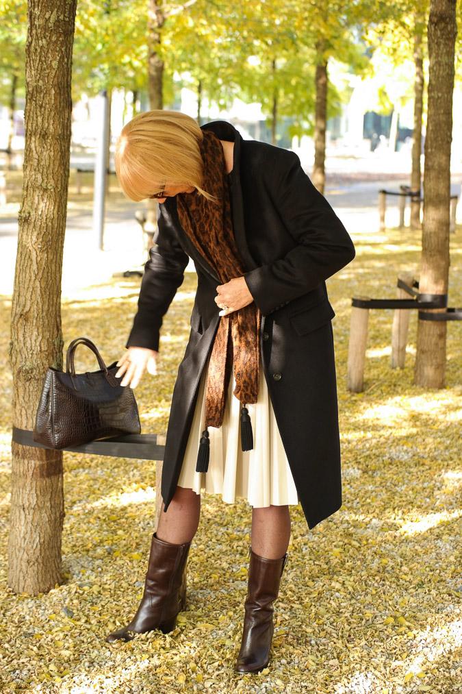Cream pleated skirt Max Mara (44)_LR