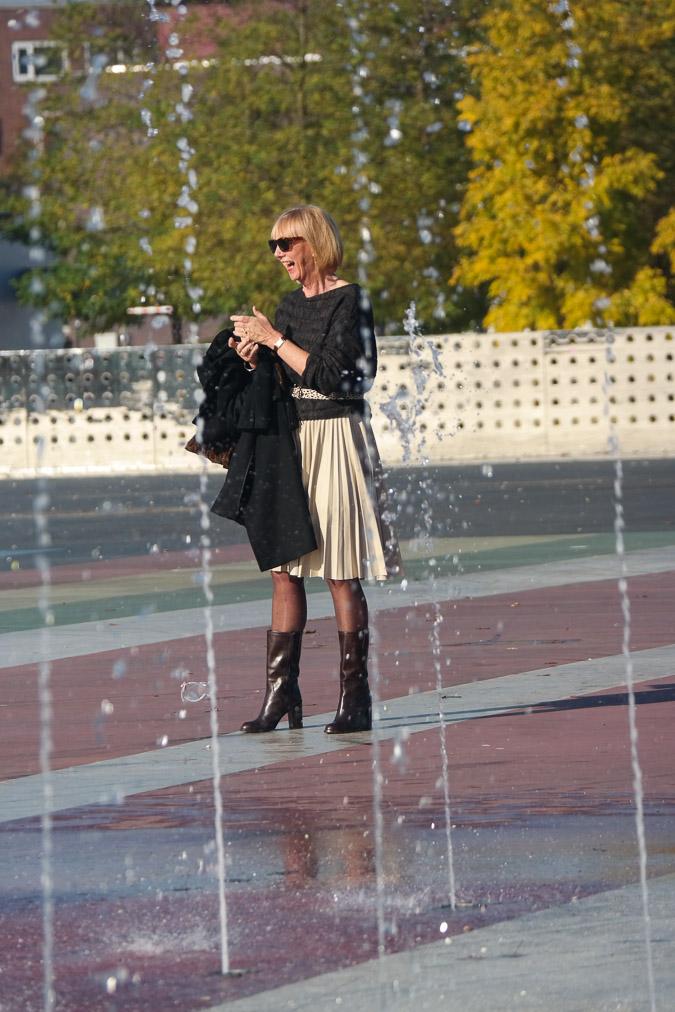 Cream pleated skirt Max Mara (4)_LR