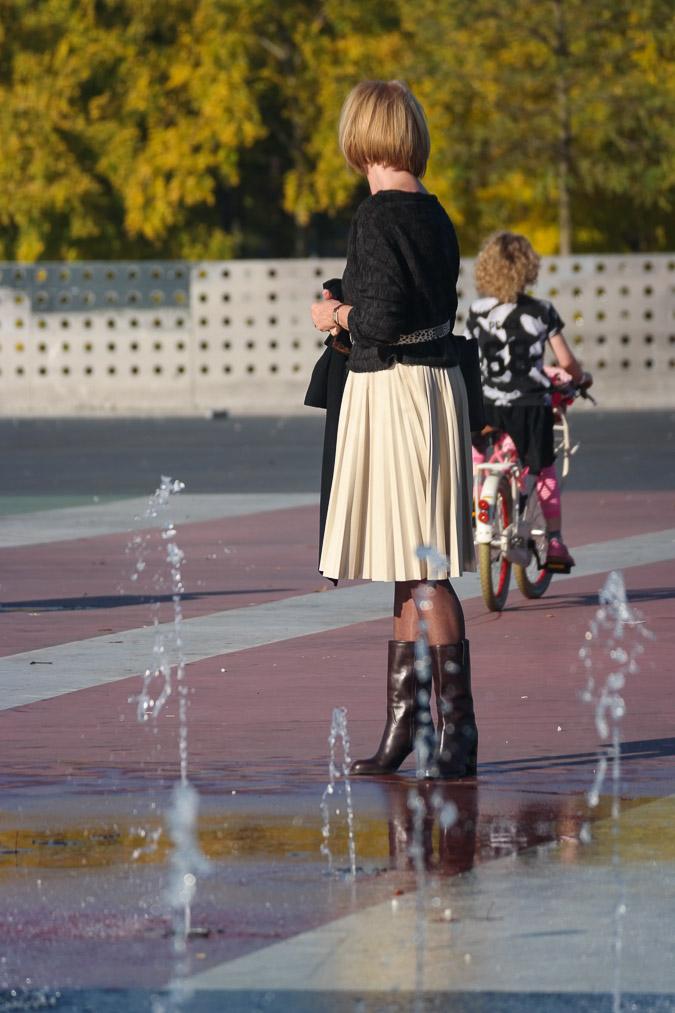 Cream pleated skirt Max Mara (9)_LR