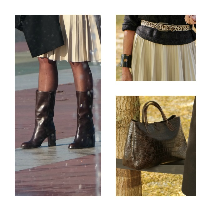 bag boots and belt